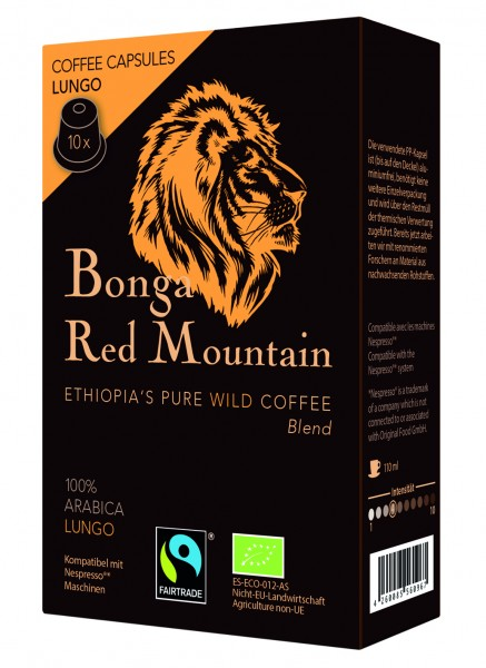 Bonga Red Mountain Lungo Kapsel Inhalt 10 x 5,5 gr