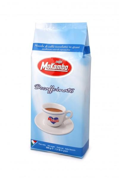 Mokambo decaffeinato naturale espresso bar Kaffeebohnen 500g
