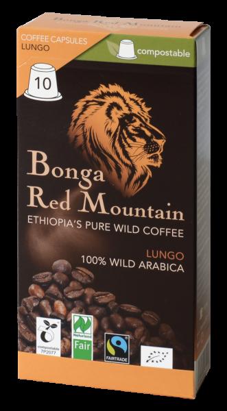 Bonga Red Mountain Lungo Kapsel Inhalt 10 x 5,5 gr