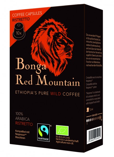 Bonga Red Mountain Ristretto Kapsel Inhalt 10 x 5,5g