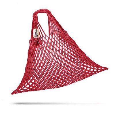 tschechische Netztasche , Volumen 25 L rot - Handarbeit