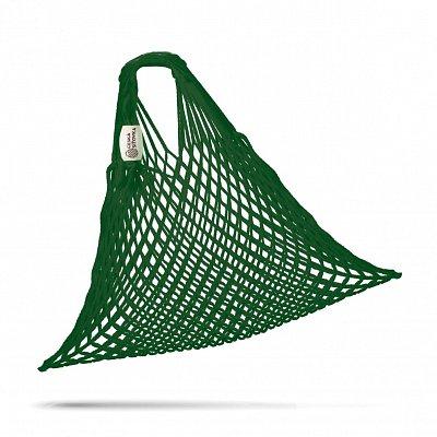 tschechische Netztasche , Volumen 25 L dunkelgrün - Handarbeit