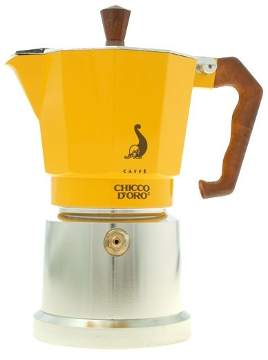 Chicco d'Oro Mokkakanne gelb für 6 Tassen