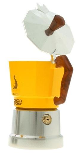 Chicco d'Oro Mokkakanne gelb für 3 Tassen